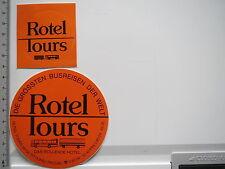 2 x Aufkleber Sticker Routel Tours - Busreisen Welt - Rollendes Hotel - (6435)