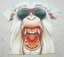 Angry Monkey Graphic Tee T-Shirt Top Short Sleeve 2XL Mans XXL Polyester Glasses
