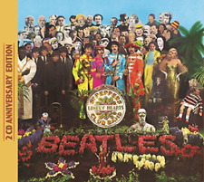 Sgt. Pepper's Lonely Hearts Club Band [50th Anniversary Edition 2 CD] by The Beatles (CD, May-2017, 2 Discs, Apple Records)