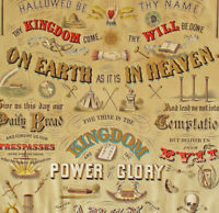 American Odd Fellows 1873 Chromolithograph Broadside of The Lord's Prayer