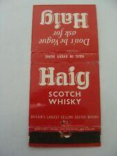 Pochette allumettes - HAIG - Scotch / WhiskY - UK - (256)