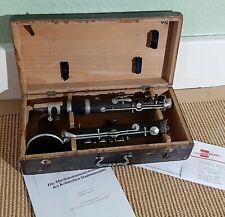 Um 1890 - Antike LEOPOLD FISCHER CÖLN C Klarinette in orig. Holzkasten !!! B66