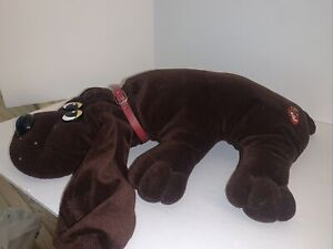 Vtg 1980's Collectible Plush Dog POUND PUPPIES Original Red Collar TONKA Brown