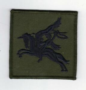 BRITISH ARMY PARACHUTE REGIMENT PEGASUS PATCH BLACK ON OLIVE GREEN/SUBDUED