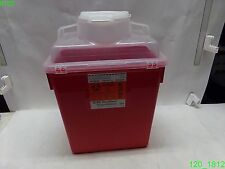 CASE OF 12: BD RECYKLEEN SHARPS COLLECTOR 6 GAL W/ LID 305160 , RED  - NEW