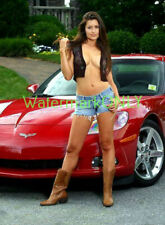 "SUPER ""ULTRA"" HOT ""LEGGY"" Car Babe & Corvette ""Pin-UP"" PHOTO! #(232)"