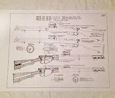WW1 WW2 British Armourers SMLE Lee Enfield No1 Mkiii Rifle Drawing Schematics