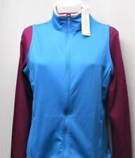 New Ladies Nancy LOPEZ Liesure Medium sleeveless wind vest breeze & white