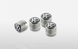 Genuine  Volkswagen Valve Caps with Volkswagen Logo