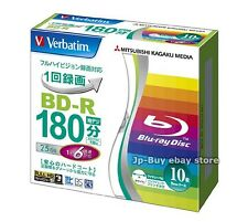10 Verbatim Bluray Disc 6x Speed 25 GB BD-R Inkjet Printable Bluray Repacked