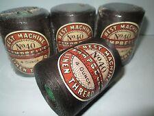 4 Bobines Campbell Machine linge thraed. 40/3 marron, 4 oz (environ 113.40 g)