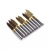 60 Degree 0.2mm Titanium Coated Carbide PCB Engraving Bits CNC Router Tool