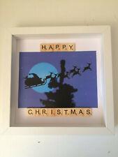 Family Scrabble Letter Box Frame Picture Christmas Decoration Present Mum Dad