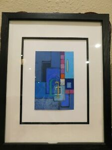 AMERICAN MODERNIST PASTEL PAINTING Signed