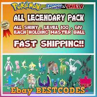 Legendary Complete Pack 20 POKEMON ✨ Holding Master Ball*✨Pokemon Sword Shield