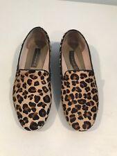 059990a10686 Steven By Steve Madden Fur Leopard Loafer Flat Slipper Shoe