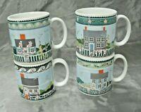 "Sakura NANTUCKET Set of 3-7 5/8"" Coffee Tea Mugs Claire Murray Stoneware EUC"