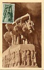 CARTE POSTALE MAXIMUM ALGERIE / EXPOSITION PHILATELIQUE SOUS OFFICIER ALGER 1952