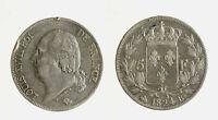s1544_14)  France 5 Francs Louis XVIII 5 Francs 1824 B Rouen - A DEFECT