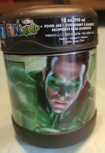 Green Lantern Thermos Funtainer Hot Cold 10oz 290ml Food Container *USED*