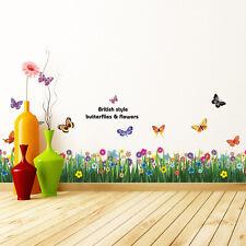 Walplus Wall Sticker Butterfly Grass Skirting with Swarovski Crystal Decorations