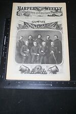 HARPER'S WEEKLY 3/23/1861 FORT SUMTER CIVIL WAR REISSUE ABNER DOUBLEDAY BASEBALL