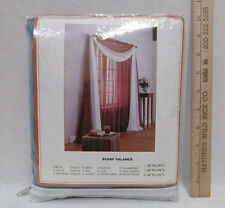 """Scarf Curtain Valance Sheer Smoke Blue 40"""" Wide - 288"""" Long  100% Polyester NOS"""