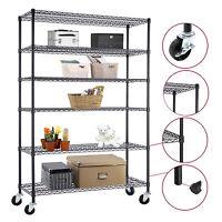 Commercial 4/5/6 Tier Storage Rack Organizer Kitchen Shelving Steel Wire Shelves