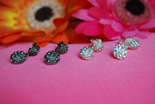 Unbranded Cubic Zirconia Oval Clip - On Costume Earrings