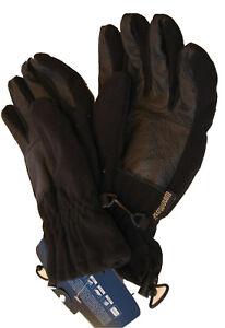 MARKS and SPENCER Thermal GLOVES Wind Resistant Fleece lined Black medium