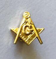 Freemason Masonic Letter G Small Gold Style Pin Badge Rare Vintage (R8)