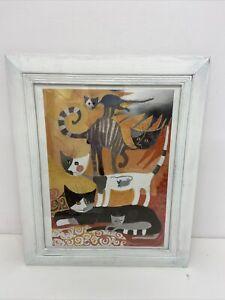 Rosina Wachtmeister 1992 Framed Print Cats S7