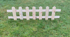 More details for wooden panel picket fencing - wood garden border fence! new product! 2pcs