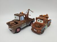 """DISNEY PIXAR CARS SUPERCHARGED MATER LOT OF TWO 3"""" And 4"""" Die Cast Cars"""