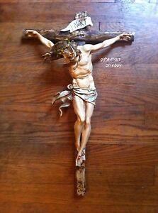 "CRUCIFIX JESUS Statue LARGE 20"" Wall CROSS Big Christian Religious crucifix"
