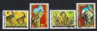 Animaux Faune Sauvage Bénin (143) série complète 4 timbres oblitérés
