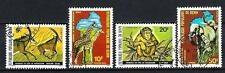 Animals Fauna Sauvage Benin (143) complete set 4 stamps obliterated