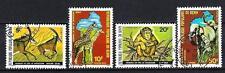 Animali Fauna Benin (143) Serie 4 Francobolli Usati