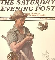 VTG Norman Rockwell Art Print Saturday Evening Post IDYLLIC PORTRAITS ** VARIETY