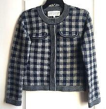 Rachel Roy Jessica Stam grey and navy wool women's cardigan size XS