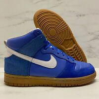 2007 Nike Dunk High Premium Royal Blue / White / Gum VTG SB Size 7 - 317892 412
