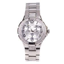 Guess Ladies Watch Silver Bracelet 14503L1 Stainless Steel Crystal Set