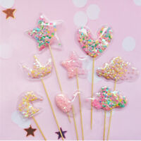 Party Supplies Transparent Star Cupcake Toppers Cake Topper Cake Decor