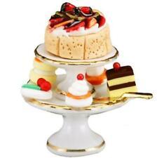 2019 Dollhouse Cake Pyramid 1.663/6 Reutter Classic White Dessert Miniature
