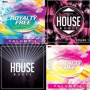 Royalty Free Dance Music Bundle 4CD PPL PRS Licence Free ROYALTY FREE MUSIC CD