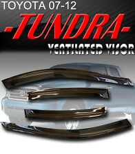 07-13 Tundra Double Cab Window Deflectors Visor Vent Shade Rain/Sun/Wind Guard