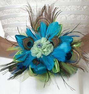 Peacock Feather Bouquet Wedding Bridal Bouquet Bride