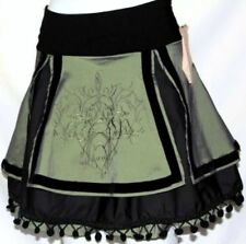 M LOLITA TRIBAL BURLESQUE GOTHIC STEAMPUNK BELLY DANCE DANCING MINI SKIRT BELT