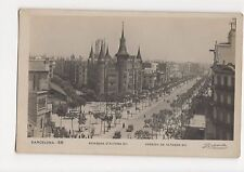 Spain, Barcelona, Avenida de Alfonso XIII RP Postcard, A577
