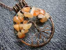 Feng Shui - Peach Aventurine Tree of Life Necklace